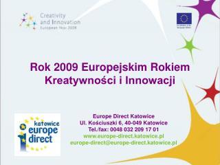 Rok 2009 Europejskim Rokiem Kreatywności i Innowacji