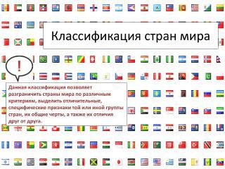 Классификация стран мира
