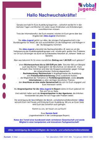 vbba- vereinigung der besch�ftigten der berufs- und arbeitsmarktdienstleister