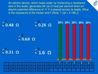 An electric device, which heats water by immersing a resistance wire in the water, generates 60 cal of heat per second w