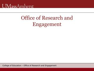 Office of Research and Engagement