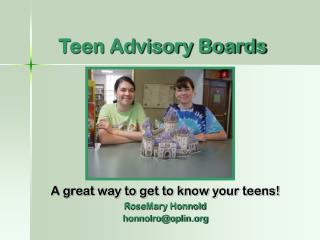 Teen Advisory Boards