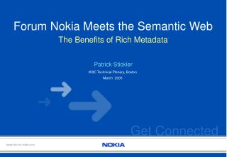 Forum Nokia Meets the Semantic Web