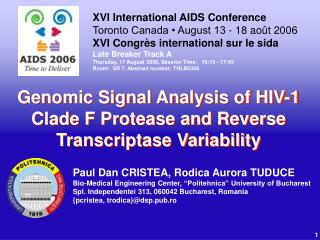 Genomic Signal Analysis of HIV-1 Clade F Protease and Reverse Transcriptase Variability