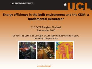 Energy efficiency in the  built environment  and the CDM: a fundamental mismatch?