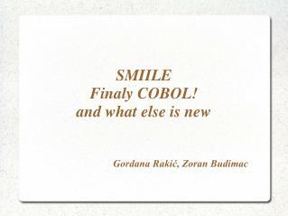 Gordana Rakić, Zoran Budimac