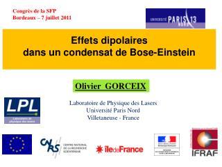 Effets dipolaires  dans  un condensat de Bose-Einstein