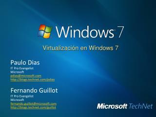 Virtualizaci n en Windows 7