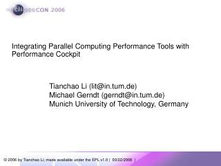 Integrating Parallel Computing Performance Tools with Performance Cockpit