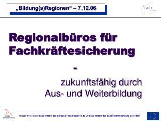 """Bildung(s)Regionen"" – 7.12.06"