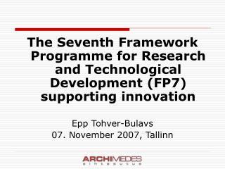 Seventh Research Framework Programme (FP7)