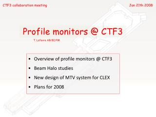 CTF3 collaboration meeting							Jan 21th 2008