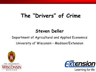 Steven Deller Department of Agricultural and Applied Economics