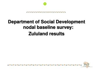 Department of Social Development nodal baseline survey: Zululand results