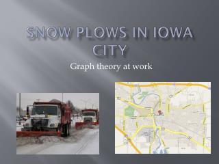 Snow plows in Iowa city