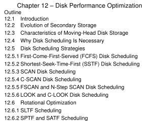 Chapter 12   Disk Performance Optimization
