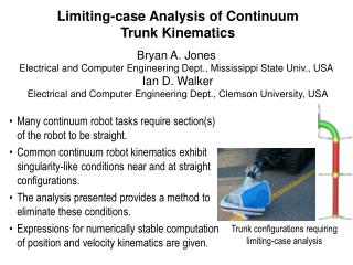 Limiting-case Analysis of Continuum Trunk Kinematics