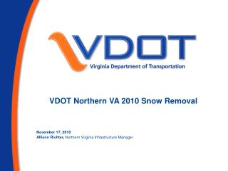 VDOT Northern VA 2010 Snow Removal