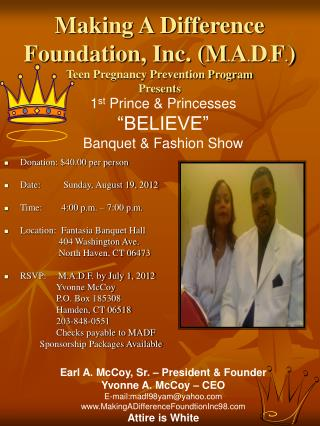 Donation: $40.00 per person Date:       Sunday, August 19, 2012