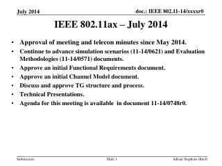 IEEE 802.11ax – July 2014