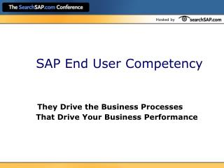 SAP End User Competency