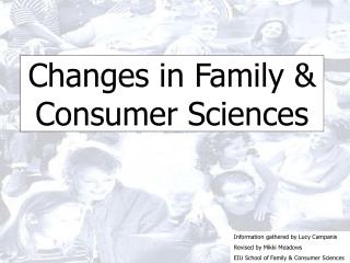 Changes in Family & Consumer Sciences