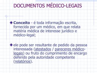 DOCUMENTOS M DICO-LEGAIS