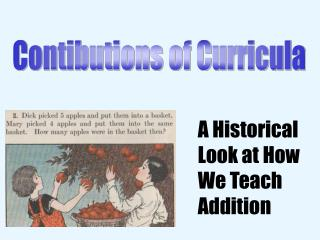 Contibutions of Curricula