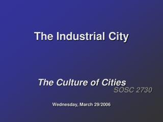 The Industrial City