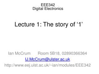 EEE342  Digital Electronics