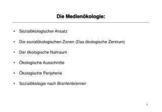 Die Medienökologie:
