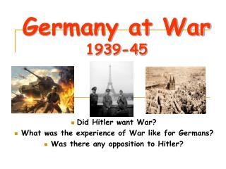 Germany at War 1939-45