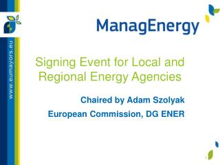 Signing Event for Local and Regional Energy Agencies
