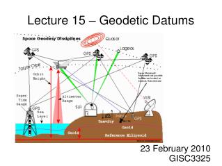 Lecture 15 – Geodetic Datums