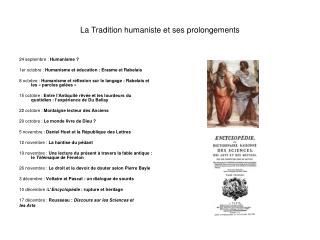 La Tradition humaniste et ses prolongements