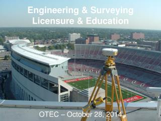 Engineering & Surveying Licensure & Education