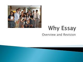 Why Essay