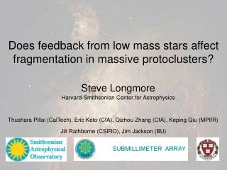 Does feedback from low mass stars affect fragmentation in massive protoclusters?