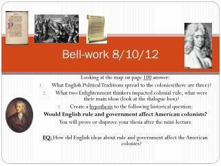 Bell-work 8/10/12