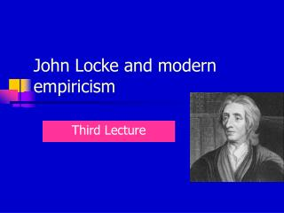 John Locke and modern empiricism