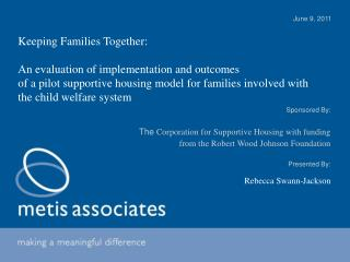 Keeping Families Together:  An evaluation of implementation and outcomes