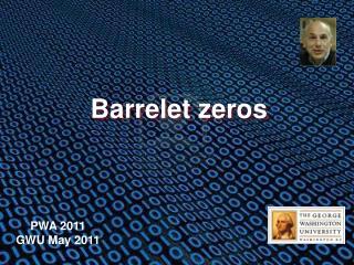 Barrelet zeros
