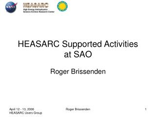 HEASARC Supported Activities at SAO