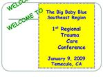 The Big Baby Blue Southeast Region  1st Regional    Trauma           Care                Conference  January 9, 2009 Tem
