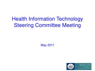 Health Information Technology Steering Committee Meeting
