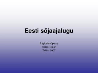 Eesti sõjaajalugu