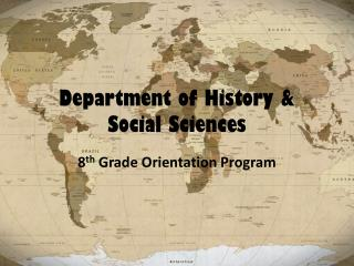 Department of History & Social Sciences