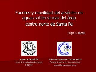 Fuentes y movilidad del arsénico en aguas subterráneas del área  centro-norte de Santa Fe