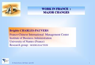Brigitte CHARLES-PAUVERS Franco-Chinese International  Management Center