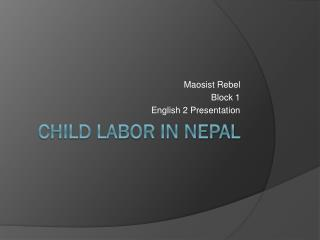 Child Labor in Nepal